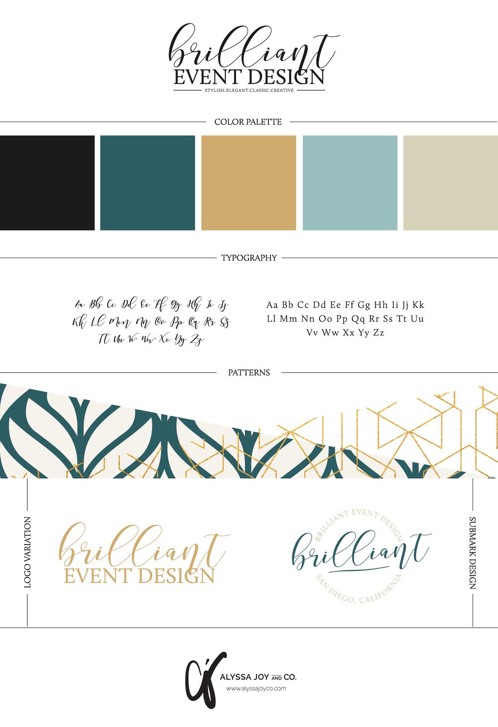 Alyssa Joy & Co. || Brilliant Event Design Brand Board