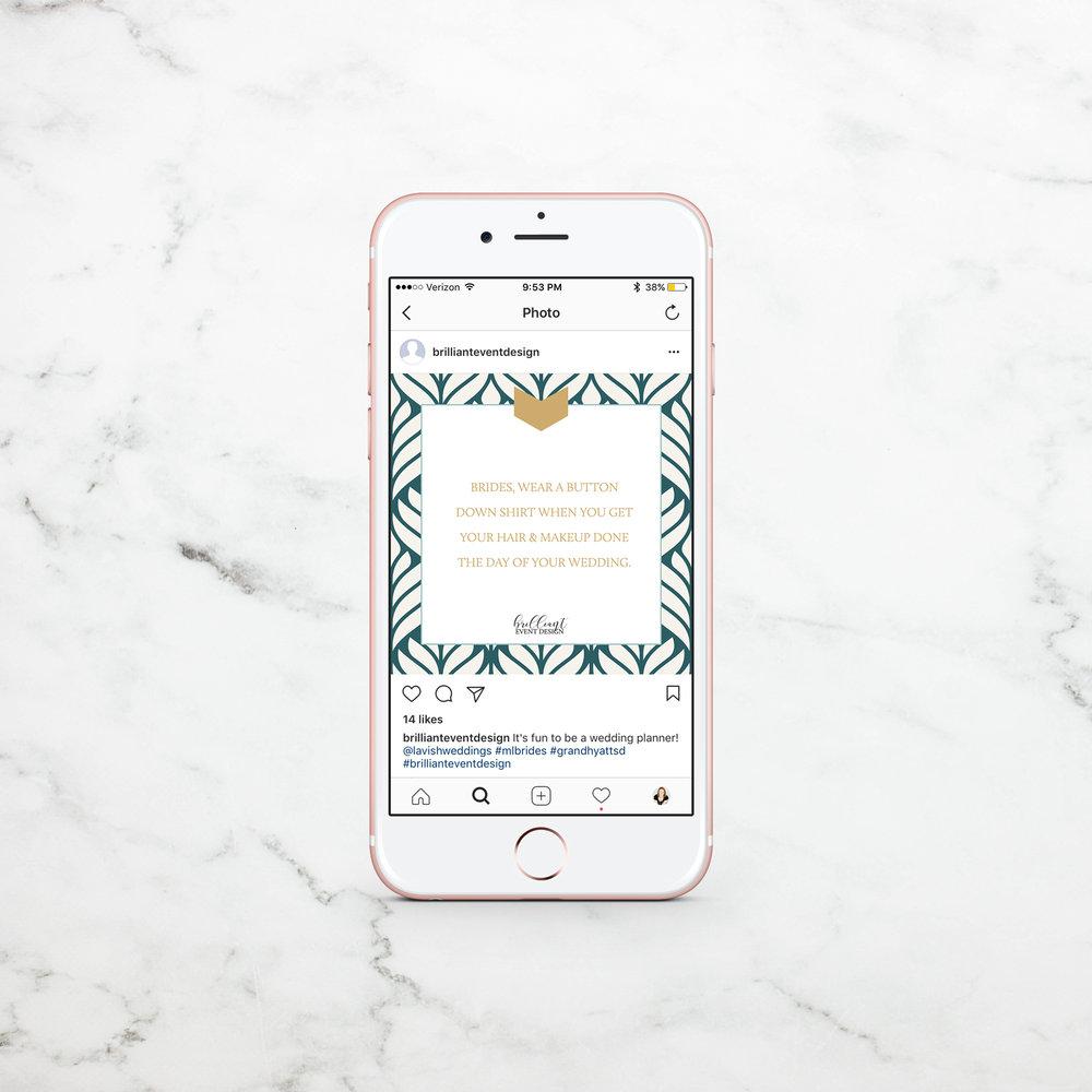 Alyssa Joy & Co. || Brilliant Event Design Instagram Template Design