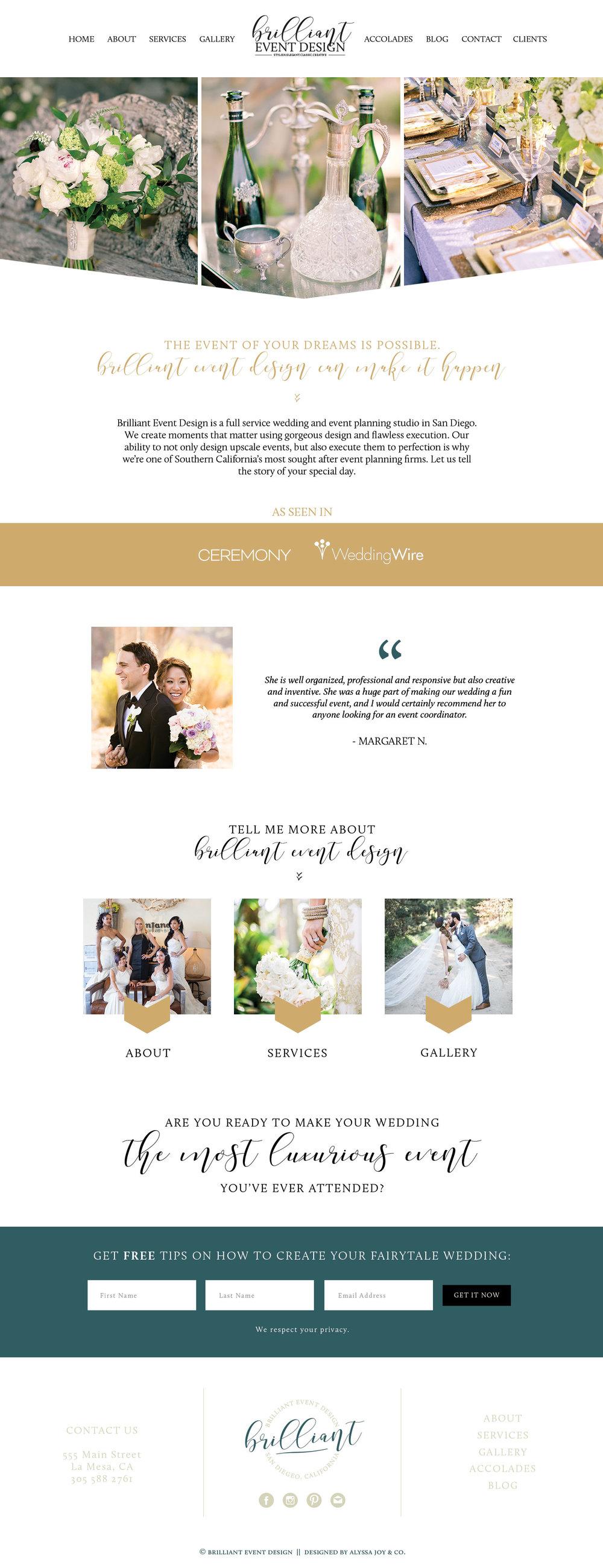 Alyssa Joy & Co. || Brilliant Even Design Custom Squarespace Website