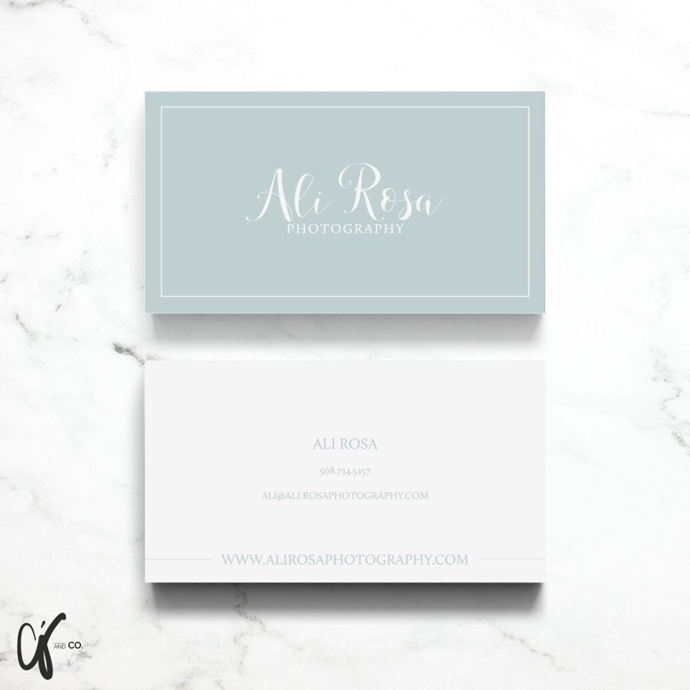 Alyssa Joy & Co. || Ali Rosa Photography || Business Card Design