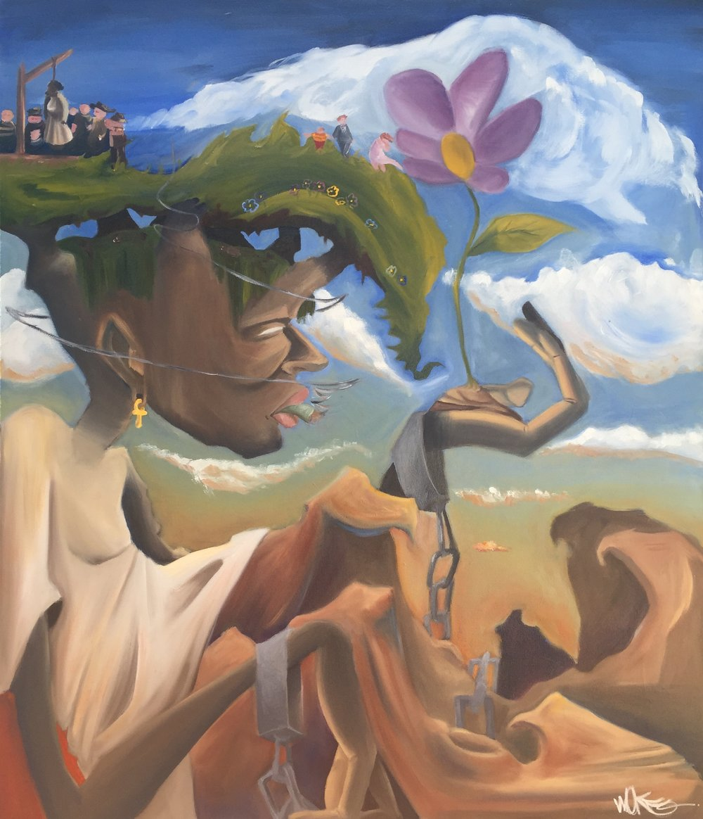 """Stokkkhome Sins"" / Oil on canvas / 2015"