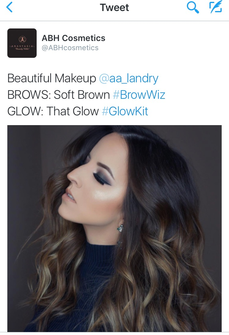 Anastasia Beverly Hills Twitter Feature