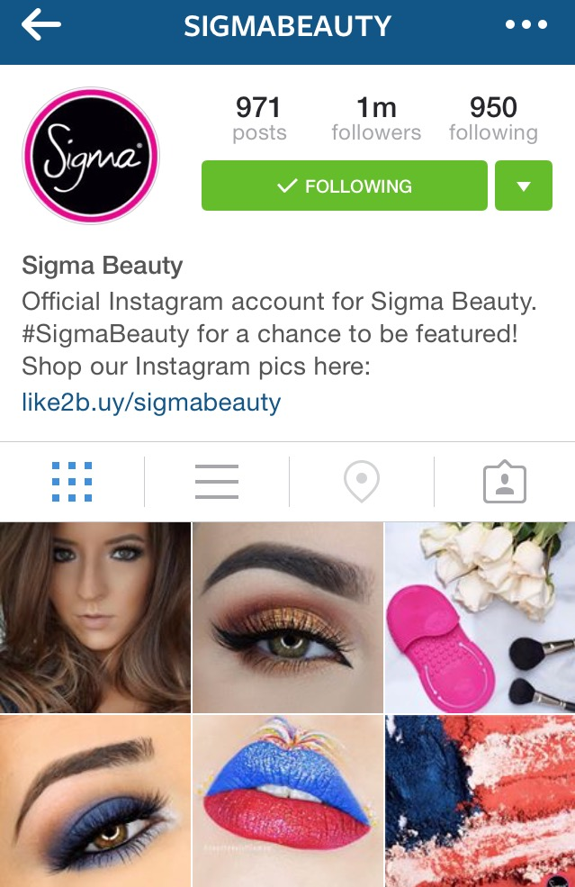 Sigma Beauty Instagram Feature