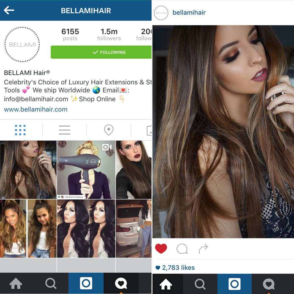 Bellami Hair Instagram Feature