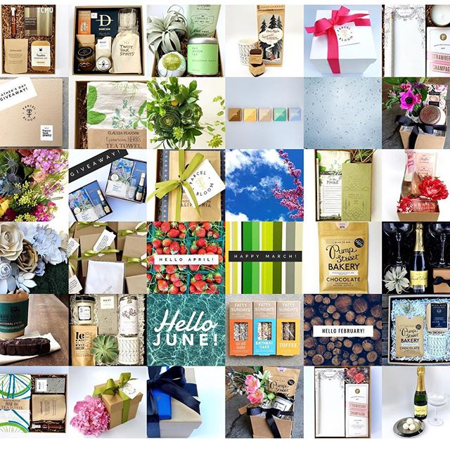 Some of our best Instagram posts in one capture! So satisfying to see all of our hard work highlighted in a photo!  We are looking forward to more P&B in 2018! ... . . . #parcelandbloom #customgift #curatedgifts #holidaygiftguide #artisangifts #localbusiness #sandiegoshopping #thatsdarling #curate #shoplocal #curatedgiftbox #giftdesign #perfectgift #welcomebasket #giftsforhim #holidaygifts  #thatsdarling #ohwowyes #giftsforher #giftbox #gifting #flashesofdelight #sandiegoevents #sandiegobloggers  #giftboxavailable  #christmas #presents
