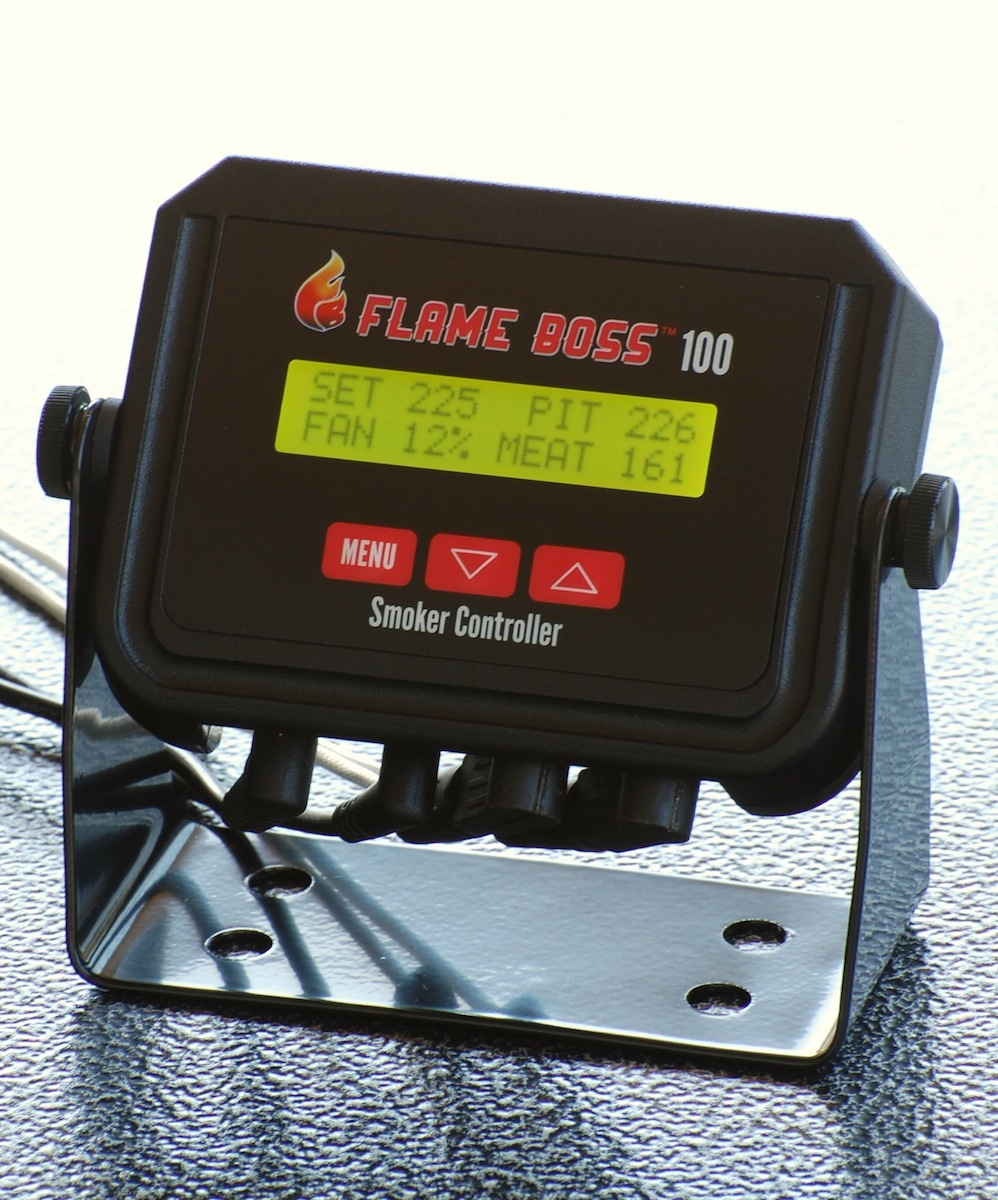 Flame Boss   Flame Boss temperature controllers for charcoal grills and smokers make him a better pit master. Smoke tender and moist meat with precise and repeatable temperature control in your smoker the way nature intended – low and slow.