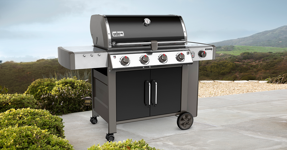 Weber Genesis II LX    It's the grill in which his culinary masterpiece is created. The inspiration of taking his love of backyard cuisine to the next level, and the power of the GS4 grilling system paving the way.