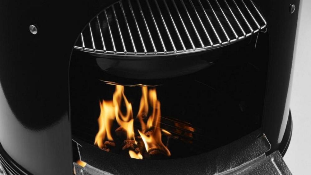 Heavy-gauge steel charcoal grate