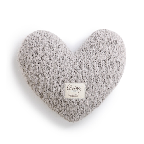 Giving Heart  The Giving Heart is a giftable hug! It's sumptuously soft and soothing - like a warm hug - making it a wonderful gift for any loved one going through a difficult time in their life.