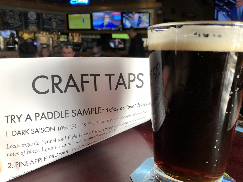 The Craft Taps menu is always changing. Be sure to check it often for some new craft beer choices.