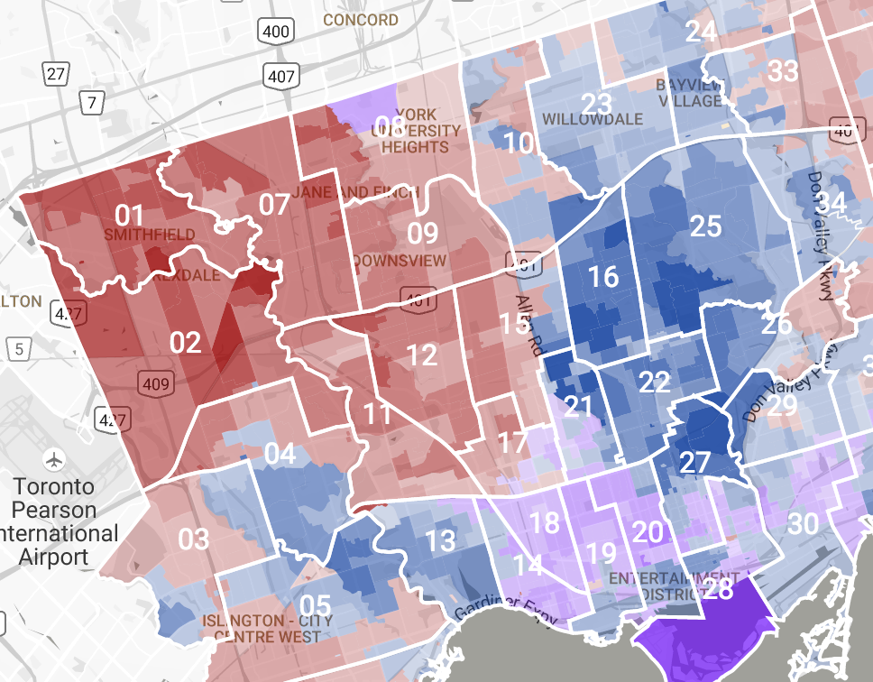 interactive election results and demographic data with