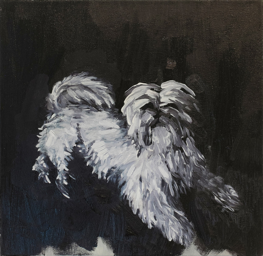 Decoration dog , 2014, Oil on canvas, 12 x 12 inches