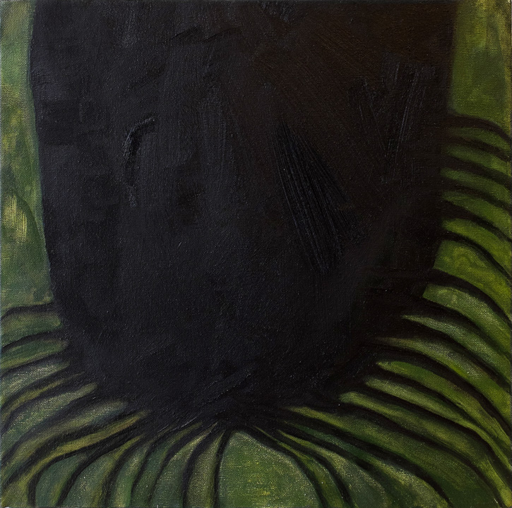 Untitled , 2014, Oil on canvas, 12 x 12 inches