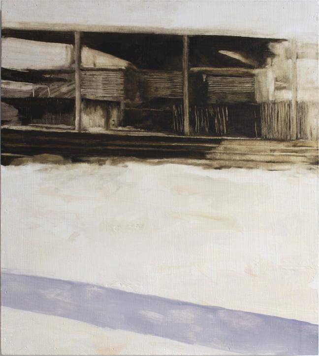 Baywatch: Ottawa , 2014, oil on wood panel, 18 x 20.5 inches