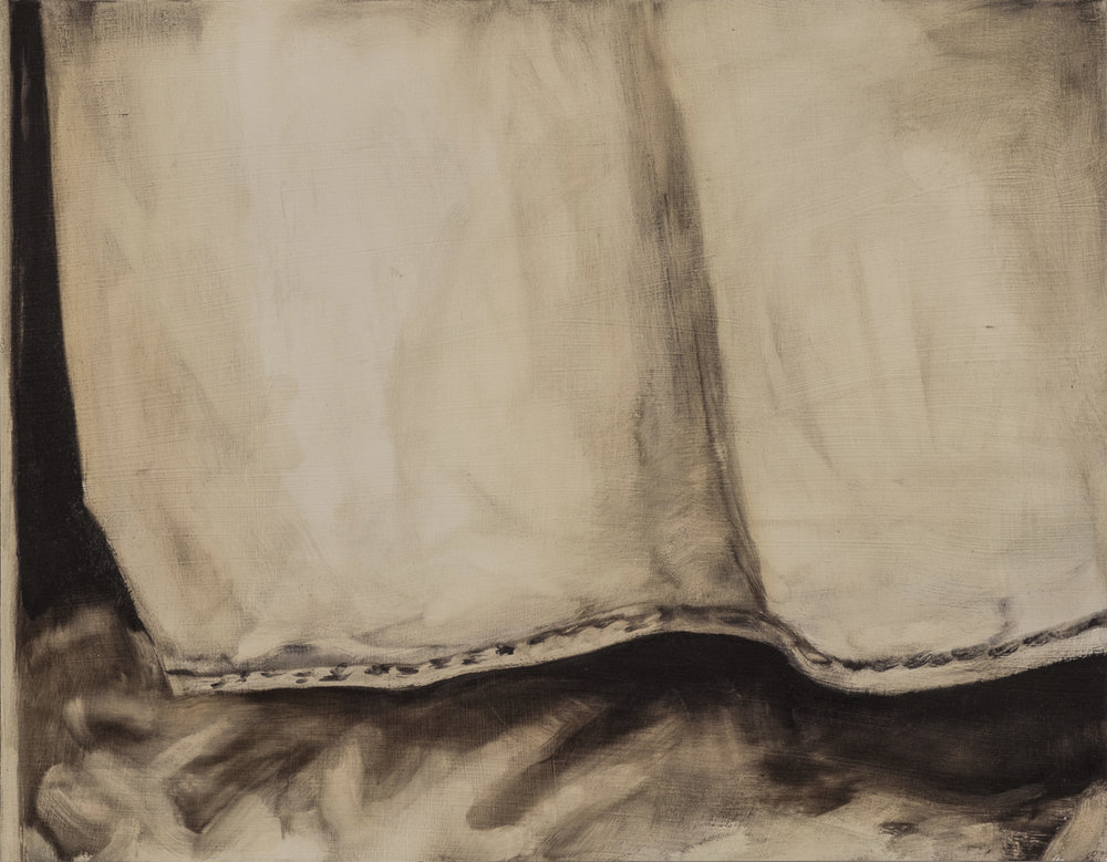 Curtain , 2017, Oil on paper, 16 x 20 inches
