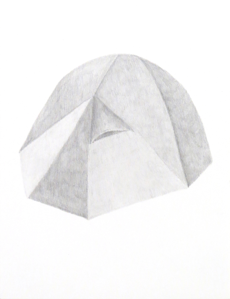 Tent (3), 2018, graphite on paper, 9 x 12 inches