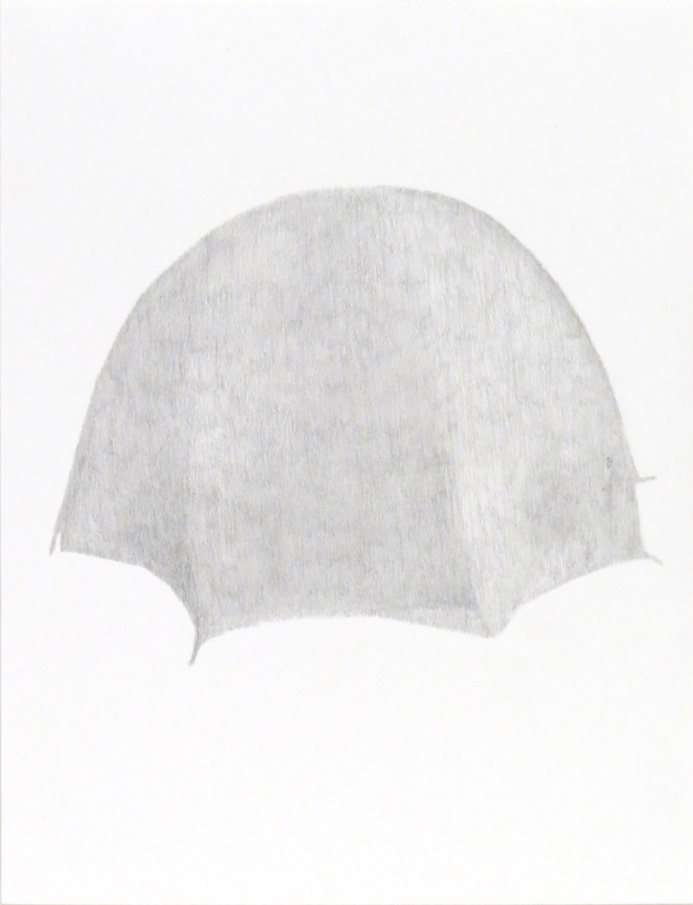 Tent (5), 2018, graphite on paper, 9 x 12 inches