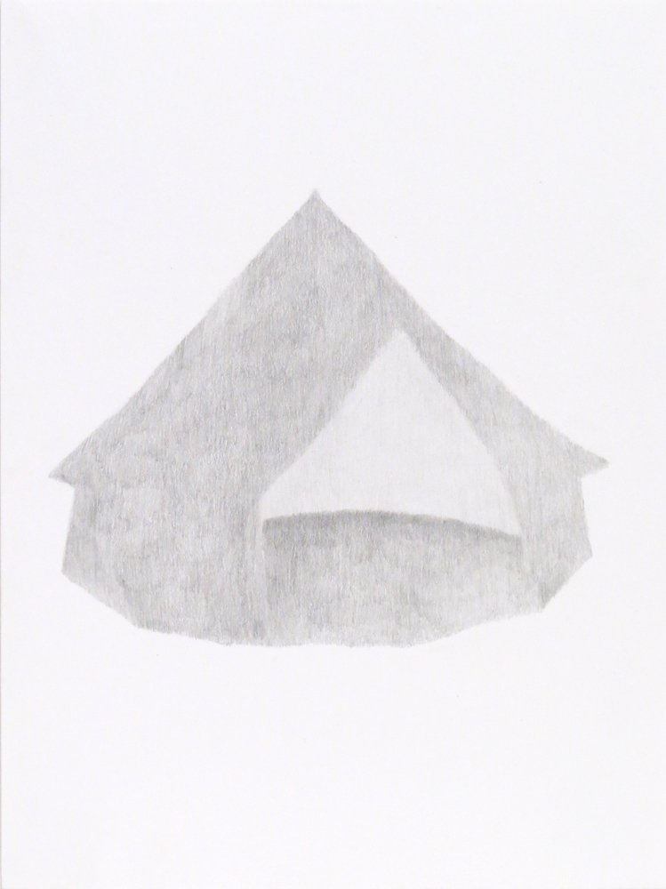 Tent (7) , 2018, graphite on paper, 9 x 12 inches