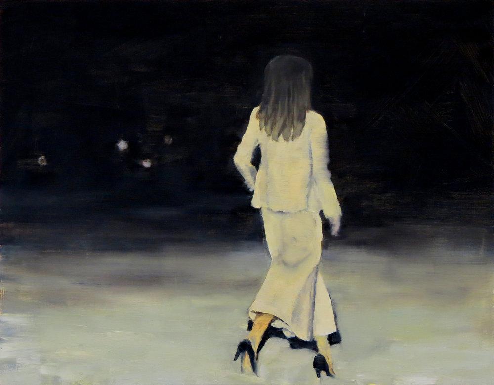 Untitled , Oil on panel, 14 x 18