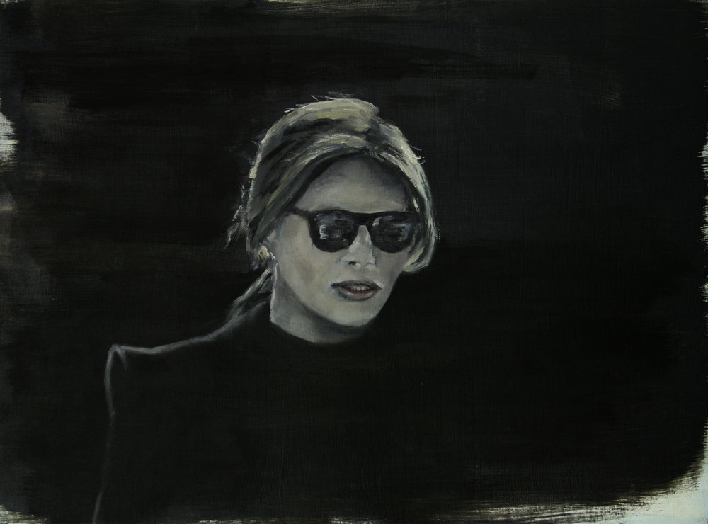 Melania (2) , Oil on wood, 12 x 16 inches