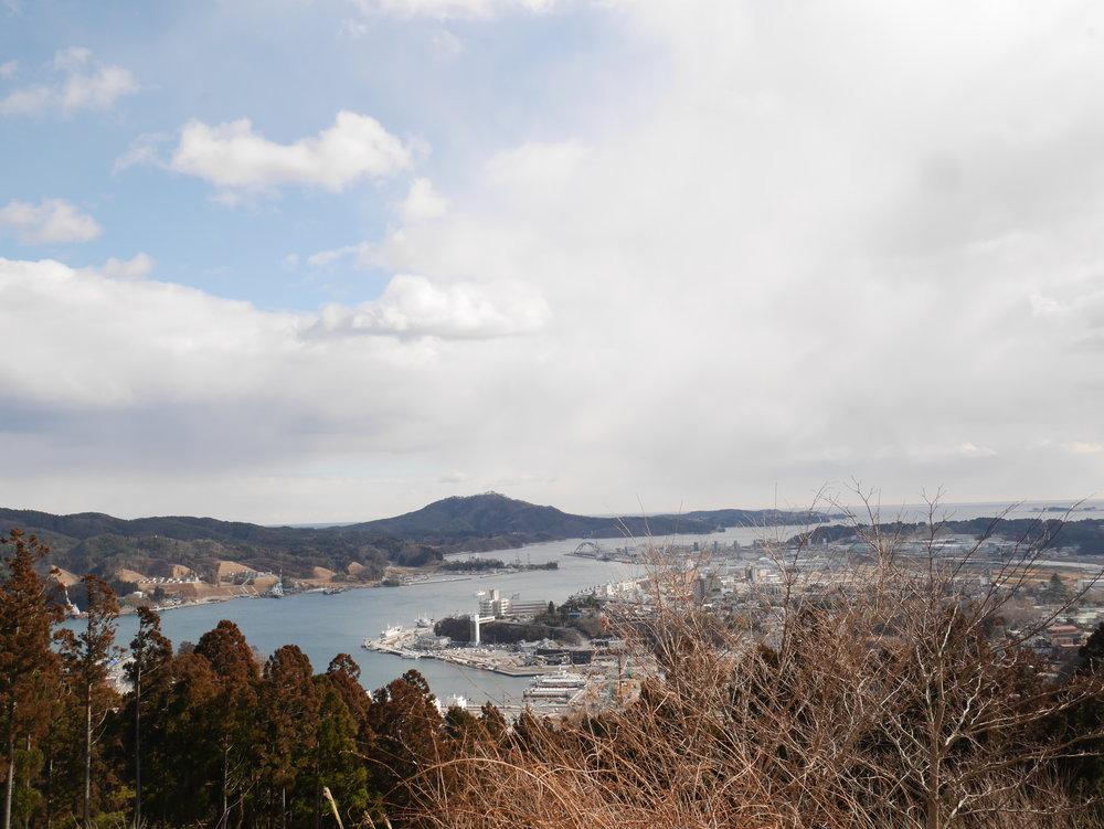 気仙沼市にある安波山から見る内湾