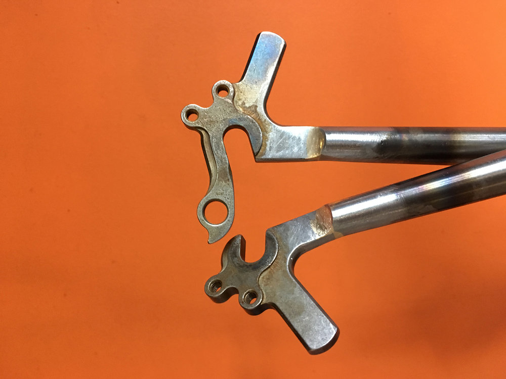 Dropouts brazed and filed.