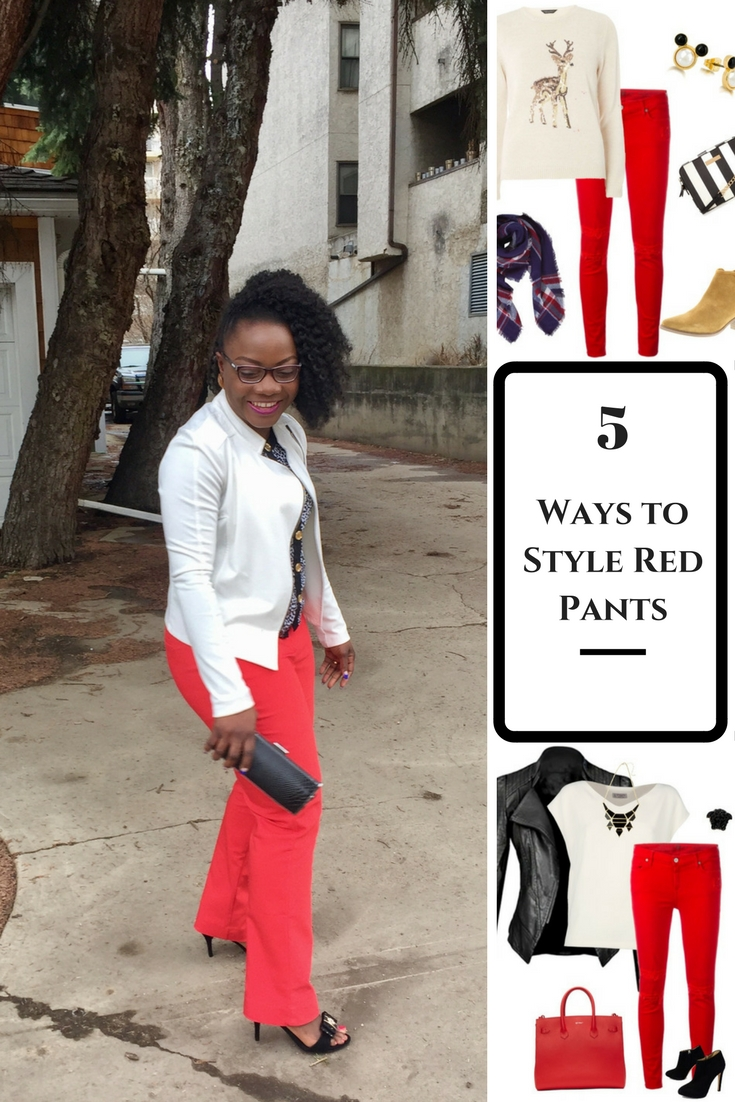 5 more ways to style red pants