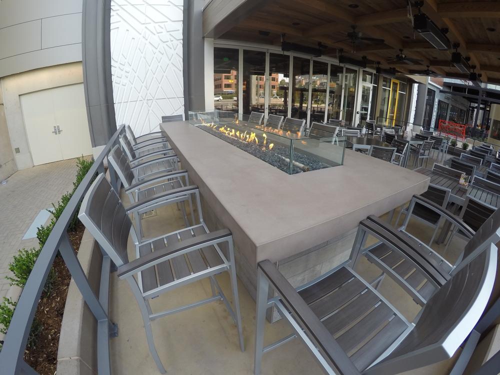 Fire Table - California Pizza Kitchen - Cherry Creek — Stones Design ...