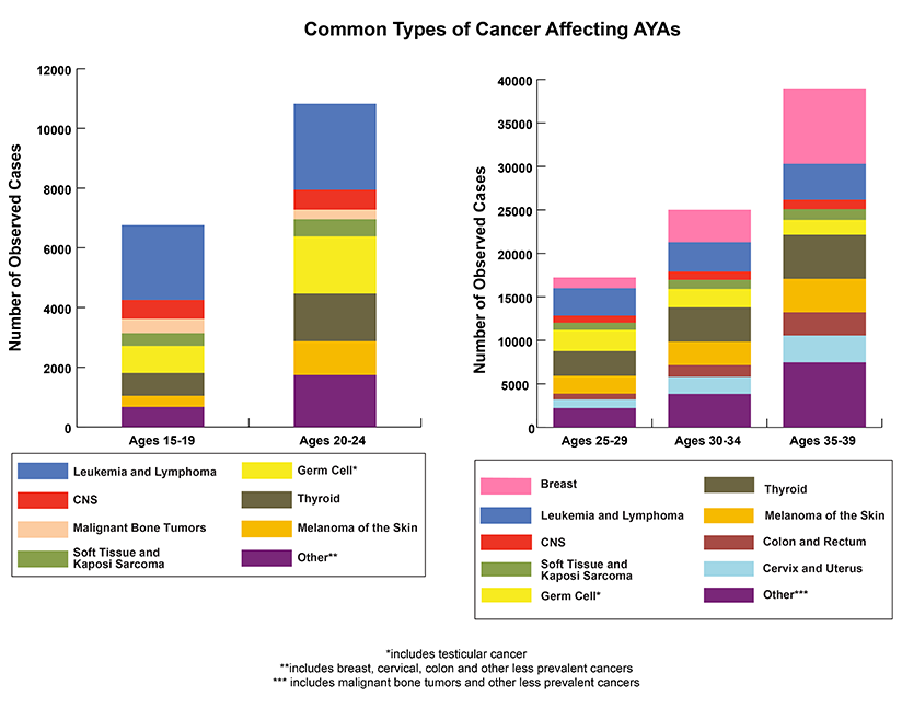 Click to learn more about adolescents and young adults (AYAs) with cancer (from the National Cancer Institute)