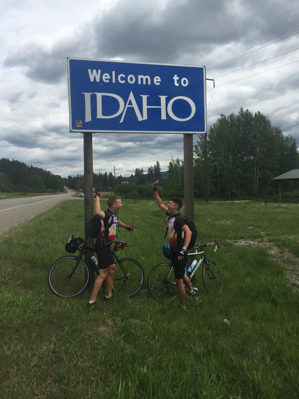 At the border into Idaho
