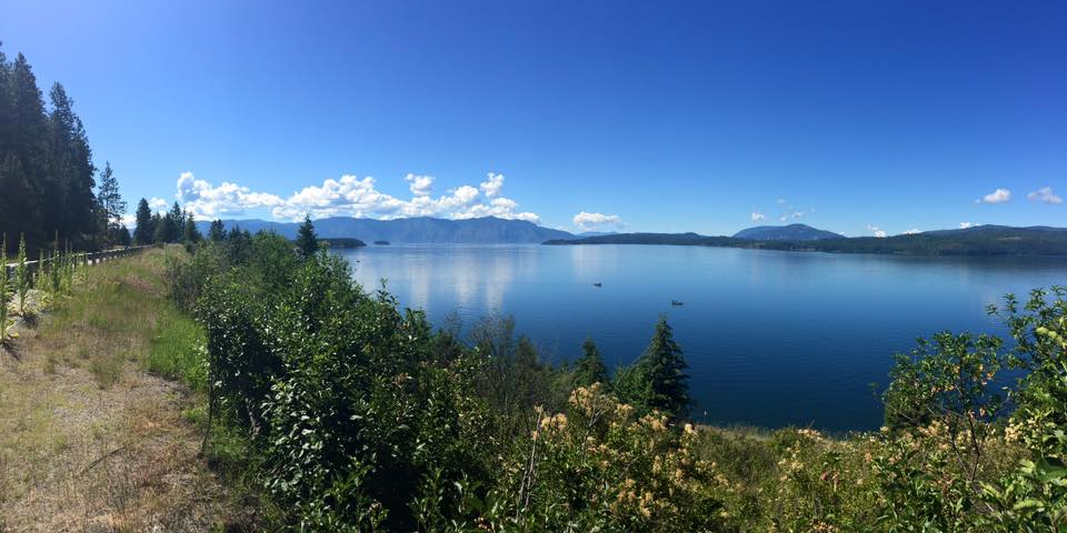 One of the views from the North end of Lake Pend Oreille