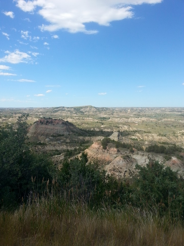 North Dakota's Painted Canyons which were beautiful to say the least