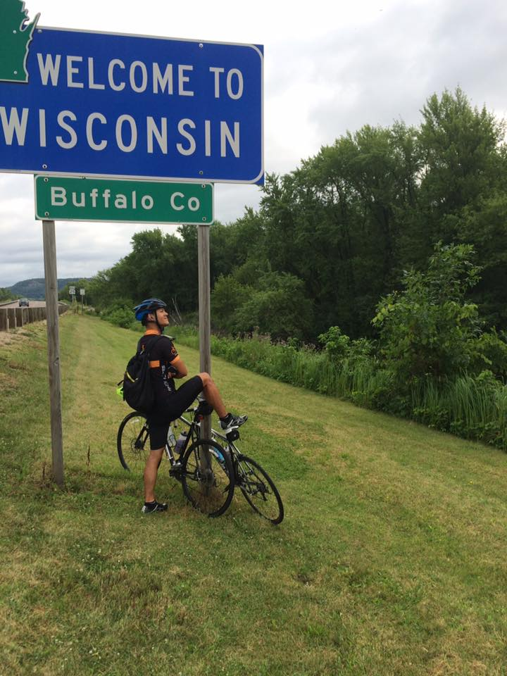It's always a great feeling when you bike across another state border!