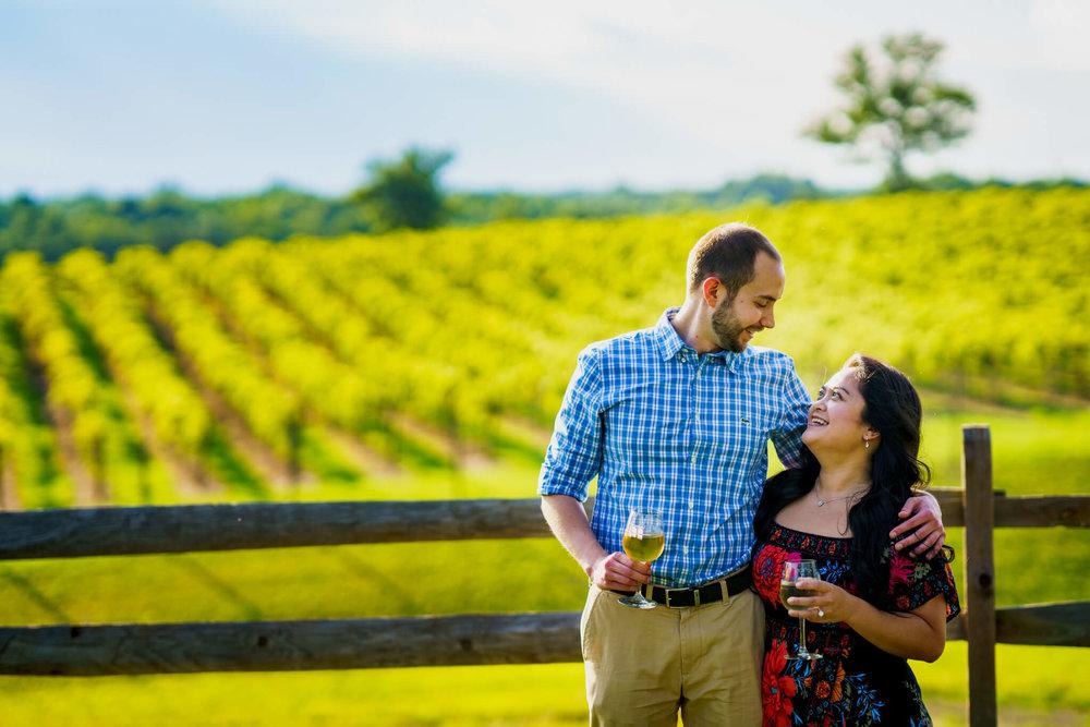 Lhynette Sean Bull Run Winery Manassas VA Engagement-015.jpg