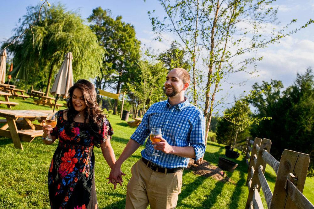 Lhynette Sean Bull Run Winery Manassas VA Engagement-006.jpg