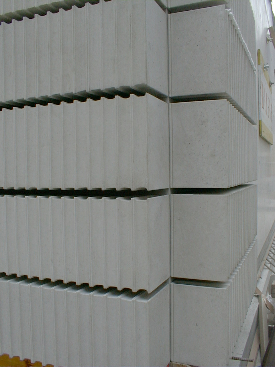 Rachel Whiteread, detail from   Holocaust Memorial   , 1995-2000  . Judenplatz, Vienna.   Mixed media  . 3.8 x 7 x 10 meters.
