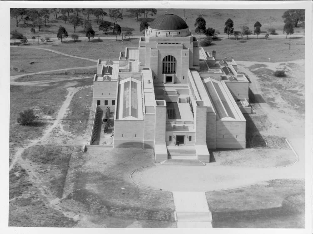 The Australian War Memorial, Canberra, A.C.T., c. 1944. National Library of Australia.