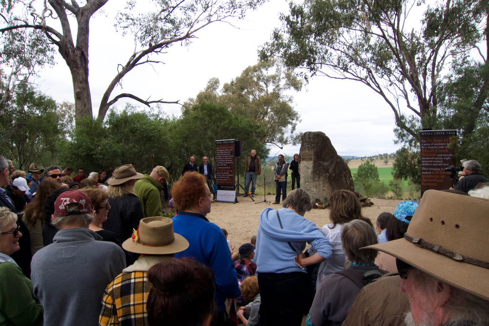 Myall Creek Massacre Annual Ceremony, June 2017. Photograph by Jessica Neath