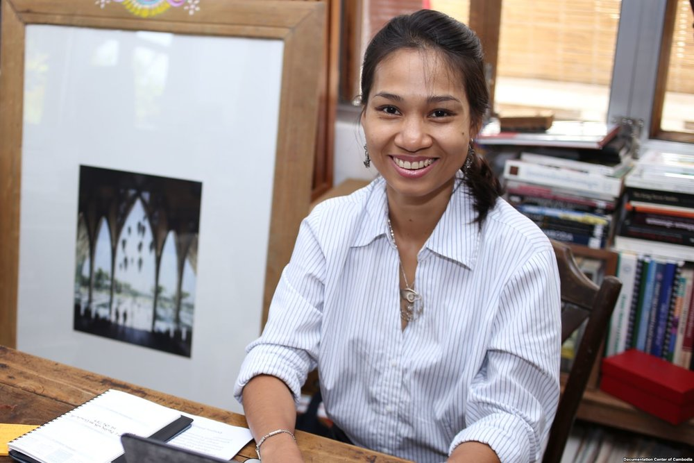 Savina Sirik   Since 2004, Ms Sirik has worked for the  Document Center of Cambodia (DC-Cam) , an organisation working to secure the memory of the Khmer Rouge period and to seek justice for genocide survivors. Savina will share her wealth of experience, from working at a community level with genocide survivors, to liaising with international stakeholders to secure support for memorial projects. Currently the DC-Cam are developing the  Sleuk Rith Institute , a major complex in Phnom Penh, that will be a memorial and international centre for genocidal studies.