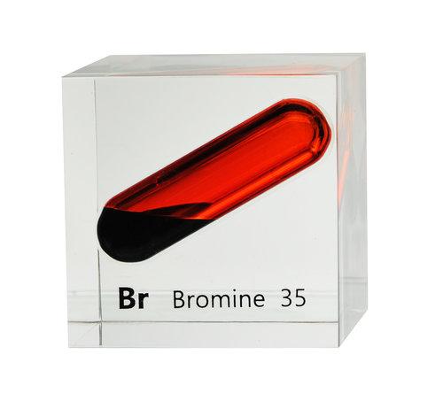bromine 50mm lucite cube luciteria
