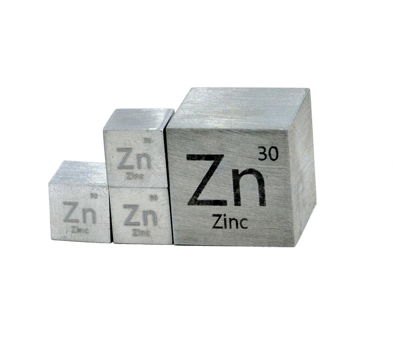 Zinc Metal Cube 99.99% — Luciteria