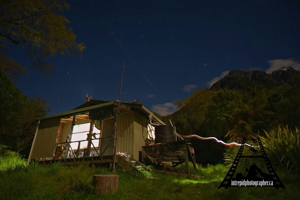 McKerrow Island Hut, Hollyford Track, Fiordland National Park, New Zealand
