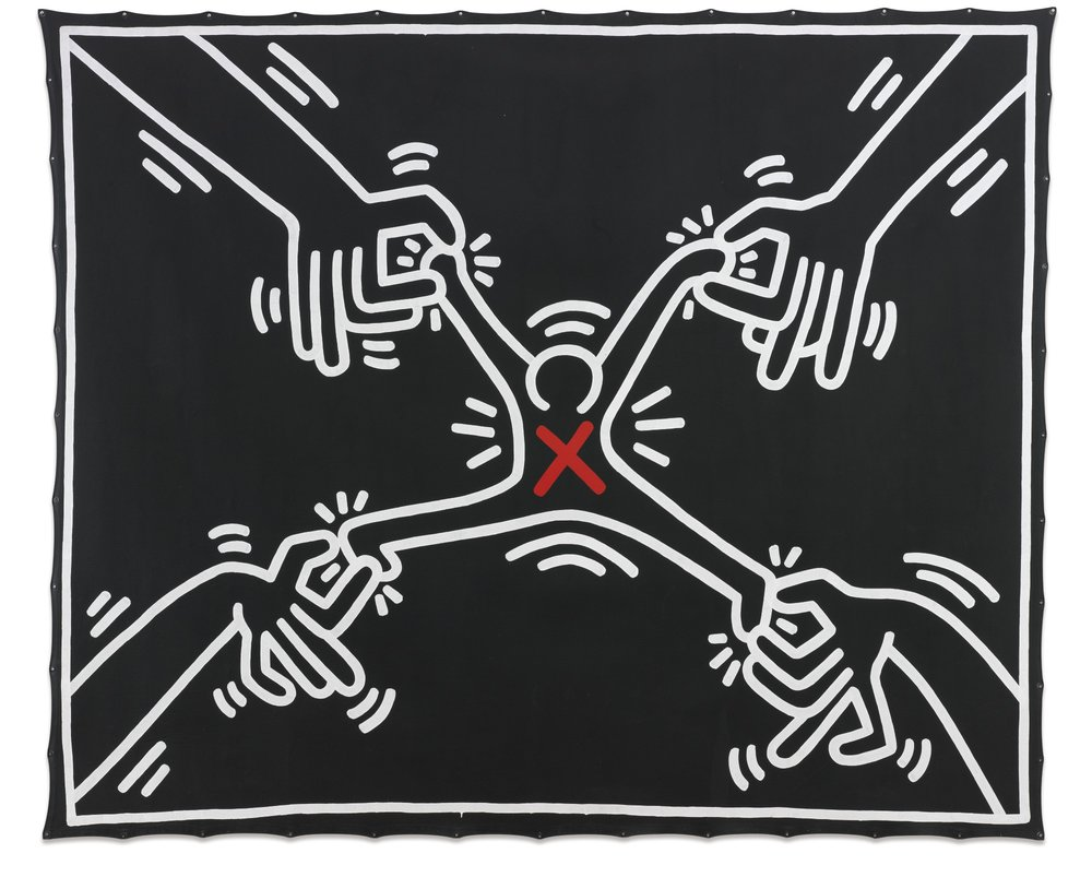 "4. ""Untitled figure"" - Keith Haring - Corresponding Song: Hot Ones"