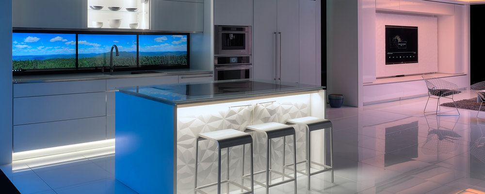 Virginia Tech's FutureHAUS kitchen concept. [Photo courtesy Virginia Tech]
