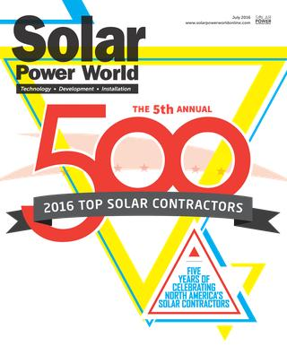 Solar Power World Top 500 Solar Contractors 2016