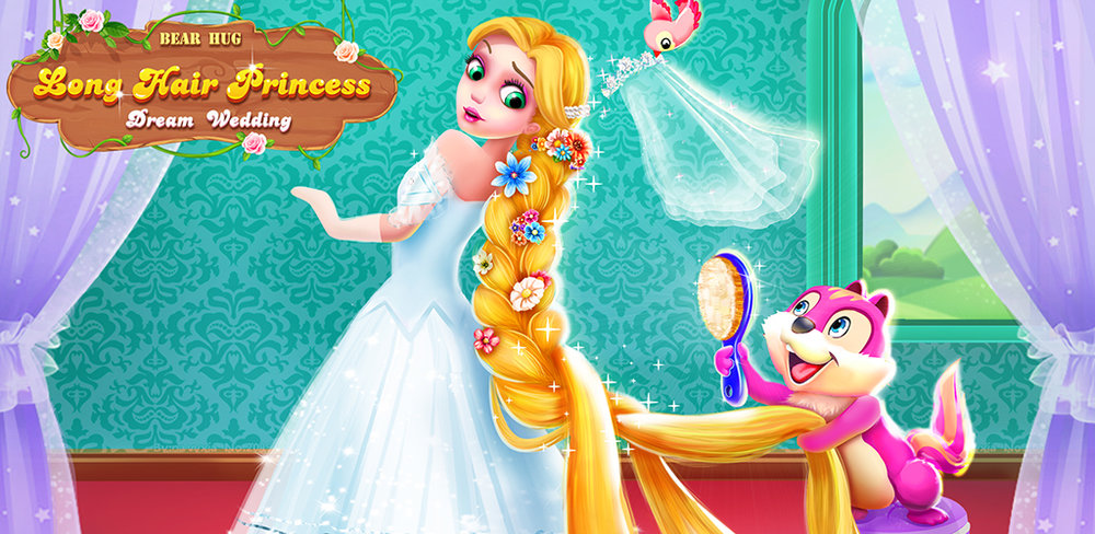 "Long Hair Princess Dream Wedding Long Hair Princess Juliet said ""YES!"" Her big day is coming up and she can't wait to celebrate with you! She believed you are the best wedding planner!"