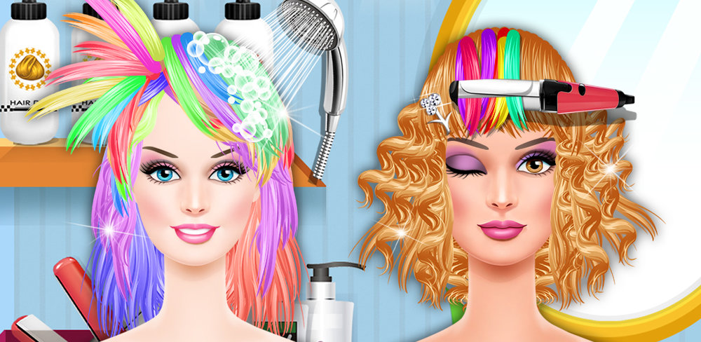 Fashion Girls Hair Salon Game  Make a fashion statement! The models are looking for a new look to tame their crazy do's, so they came straight to the stylist of the year—that's you!