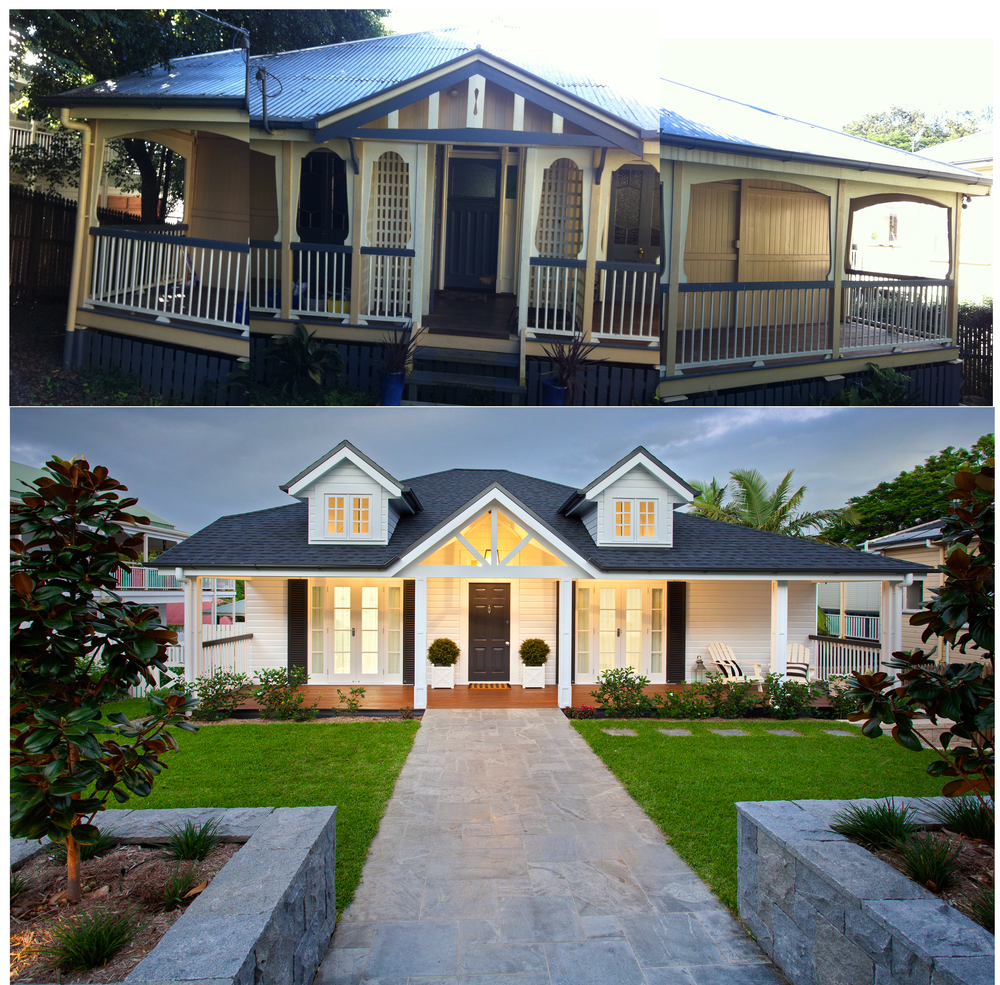 BEFORE AND AFTER IMAGE -QUEENSLANDER-HAMPTON HOUSE