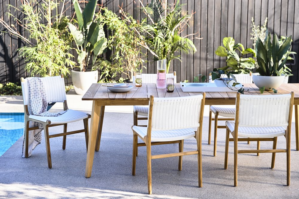 The Noosa Outdoor Setting by GlobeWest. Email tess@mintedinteriors.com for a quote