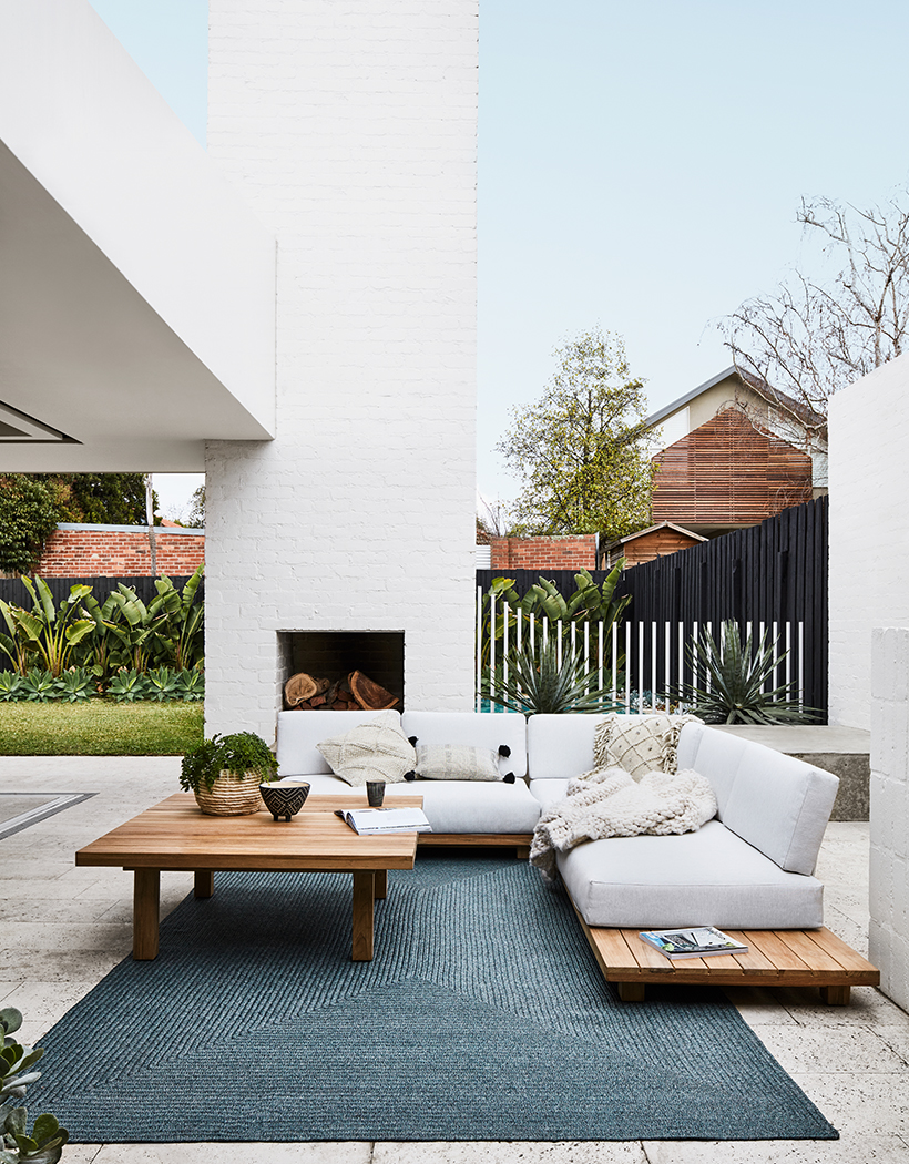 Haven Outdoor Configuration Sofa available through Minted Interiors email tess@mintedinteriors.com Image: GlobeWest